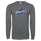 Charcoal Long Sleeve T Shirt-Patriots Star