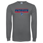Charcoal Long Sleeve T Shirt-Patriots Inline