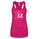 Next Level Ladies Raspberry Ideal Racerback Tank-Interlocking FM