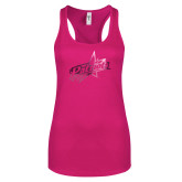 Next Level Ladies Raspberry Ideal Racerback Tank-Patriots Star Foil