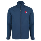 Navy Softshell Jacket-Interlocking FM