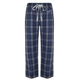 Navy/White Flannel Pajama Pant-Patriots Star