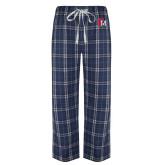 Navy/White Flannel Pajama Pant-Interlocking FM
