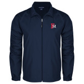 Full Zip Navy Wind Jacket-Interlocking FM