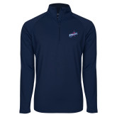 Sport Wick Stretch Navy 1/2 Zip Pullover-Patriots Star
