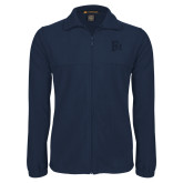 Fleece Full Zip Navy Jacket-Interlocking FM