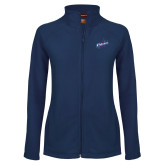 Ladies Fleece Full Zip Navy Jacket-Patriots Star