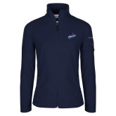 Columbia Ladies Full Zip Navy Fleece Jacket-Patriots Star