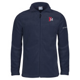 Columbia Full Zip Navy Fleece Jacket-Interlocking FM