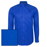 Red House French Blue Dobby Long Sleeve Shirt-Interlocking FM
