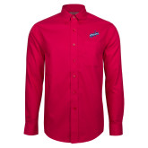 Red House Red Long Sleeve Shirt-Patriots Star
