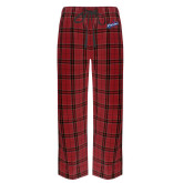 Red/Black Flannel Pajama Pant-Patriots Star