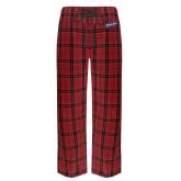 Red/Black Flannel Pajama Pant-Patriots Star