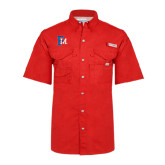 Columbia Bonehead Red Short Sleeve Shirt-Interlocking FM