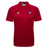Adidas Climalite Red Jaquard Select Polo-Interlocking FM