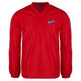 V Neck Red Raglan Windshirt-Patriots Star