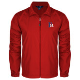 Full Zip Red Wind Jacket-Interlocking FM