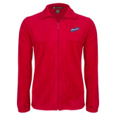 Fleece Full Zip Red Jacket-Patriots Star