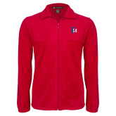 Fleece Full Zip Red Jacket-Interlocking FM