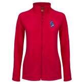 Ladies Fleece Full Zip Red Jacket-The Patriot