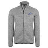 Grey Heather Fleece Jacket-Patriots Star