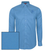 Red House Light Blue Dobby Long Sleeve Shirt-Interlocking FM