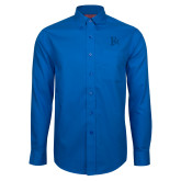 Red House French Blue Long Sleeve Shirt-Interlocking FM