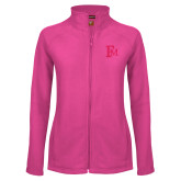 Ladies Fleece Full Zip Raspberry Jacket-Interlocking FM