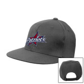 Charcoal Flat Bill Snapback Hat-Patriots Star