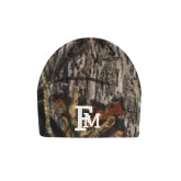 Mossy Oak Camo Fleece Beanie-Interlocking FM