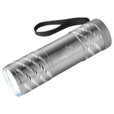 Astro Silver Flashlight-Patriots Star Engraved