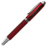Carbon Fiber Red Rollerball Pen-Flat Engraved