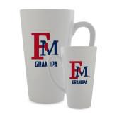Full Color Latte Mug 17oz-Grandpa FM