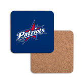 Hardboard Coaster w/Cork Backing-Patriots Star