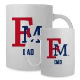 Dad Full Color White Mug 15oz-Dad FM