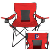 Deluxe Red Captains Chair-Interlocking FM
