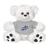 Plush Big Paw 8 1/2 inch White Bear w/Grey Shirt-Patriots Star