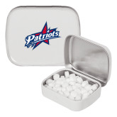 White Rectangular Peppermint Tin-Patriots Star