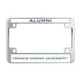 Metal Motorcycle License Plate Frame in Chrome-FMU Alumni