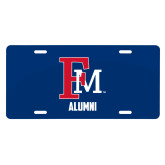 License Plate-Alumni FM