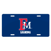 License Plate-Grandma FM
