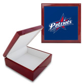 Red Mahogany Accessory Box With 6 x 6 Tile-Patriots Star