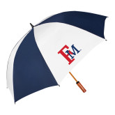 62 Inch Navy/White Umbrella-Interlocking FM