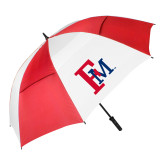 62 Inch Red/White Vented Umbrella-Interlocking FM