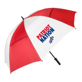 62 Inch Red/White Vented Umbrella-Patriot Nation