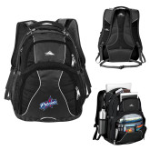 High Sierra Swerve Black Compu Backpack-Patriots Star
