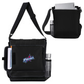 Impact Vertical Black Computer Messenger Bag-Patriots Star