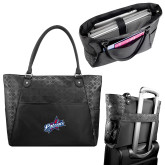 Sophia Checkpoint Friendly Black Compu Tote-Patriots Star