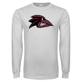 White Long Sleeve T Shirt-Raven Head