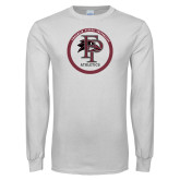 White Long Sleeve T Shirt-FP Athletics Circle